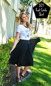diy knit circle skirt just cut circle and add a waistband full tutorial on