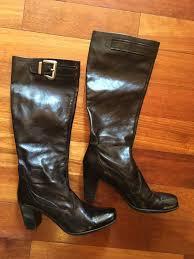 black leather boots franco sarto