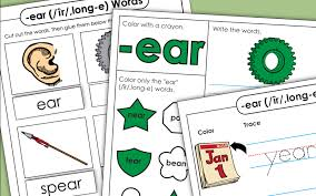 Phonics reading teaching phonics phonics worksheets teaching reading teaching ideas home learning preschool learning read write inc y1 phonics screening practise: Word Family Worksheets Ear Words