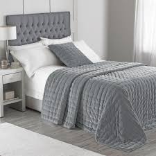 Modern 100% Cotton Velvet Quilted Bedspread, Grey – PASX UK & Modern 100% Cotton Velvet Quilted Bedspread, Grey Bedspread - PASX UK Adamdwight.com