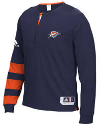 oklahoma city thunder adidas 2016 nba on court authentic l s shooting shirt