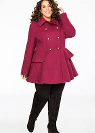 pea coat plus size inspirational double ted military peplum coat plus size winter coats ashley