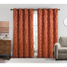 victoria classics becket 84 inch blackout grommet top curtain panel pair