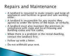 notice to tenant to make repairs templates what tenants need to know in fairfax county