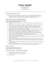Objective In Resume For Nurses Nfcnbarroom Com
