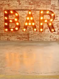 Industrial Style Bar Letter Light Pendant