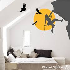 climbing with eagles on wall art vinyl stickers south africa with sports wall art decals south african sports decals sports decals