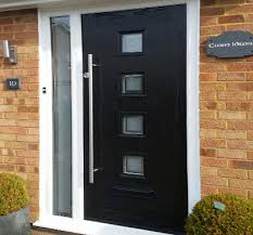 modern black front doors. Wonderful Front Modern Black Front Door With Small Cube Glass Panels And Black Front Doors E