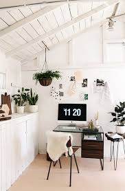 stylish home office space. Stylish Home Office Plants Simple With Beautiful Design And Interior Space