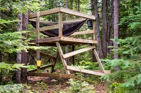 simple treehouse. Building A Simple Freestanding Treehouse
