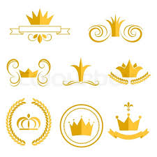Logo With Crown Gold Crown Logos And Badges Clip Art Stock Vector