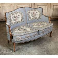 antique furniture antique french louis xv needlepoint sofa inessa com