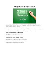 steps to becoming a teacher 5 steps to becoming a teacher<br >are you thinking about becoming a