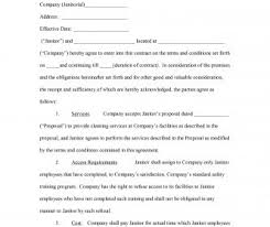 Form Samples Commercial Janitorial Contract Templates Cleaning