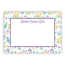 purple note cards flower fields purple stationery 25 flat notecards by boatman geller