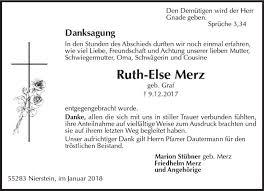 Gedenkseite Von Ruth Else Merz Wwwvrm Trauerde