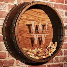 Whiskey barrel head tequila worm bottle mexican bar sign home decor wall art. Personalized Wine Decor Wine Enthusiast