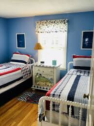 our nautical themed room with 2 twin beds is always a hit