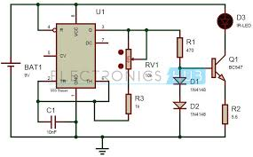tv remote control jammer circuit using 555 timer ic circuit circuit diagram of tv remote jammer using 555 timer ic