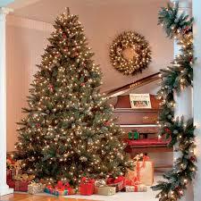 Best Warm White Led Christmas Tree Lights Green Christmas Tree Hawthorne 7 5 Ft Led 1 100 Mini Lights
