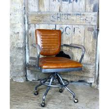 vintage office chair executive office desk chair tan leather retro vintage vintage wood office chair