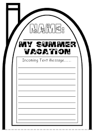 summer writing template okl mindsprout co cell phone templates write a text message about your summer vacation