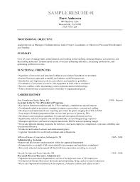 Fair Internal Resume Objective With Additional Resume Career