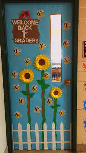 Bee and sunflower theme door decoration for back to school.