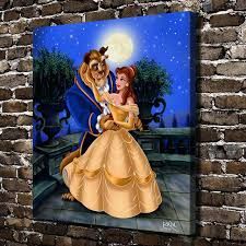 a881 beauty and the beast children cartoon hd canvas print home decoration living room