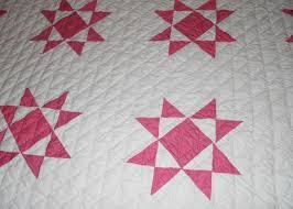 Ohio Star antique two-color quilt with a close view of the pattern ... & Ohio Star antique two-color quilt with a close view of the pattern and hand Adamdwight.com