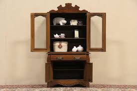 China Cabinet With Hutch Sold Child Size Eastlake Oak 1890 Hutch China Cabinet Harp