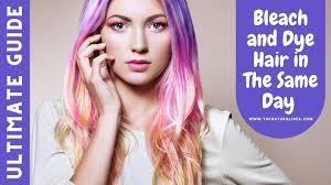 bleach and dye hair in the same day