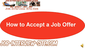 accept a job offer how to accept a job offer youtube
