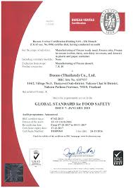 certificate buono thailand brc grade a