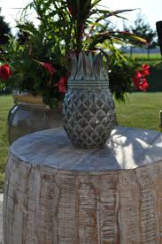 Pineapple Weathered Patina Tabletop Torch