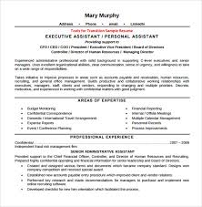 Resume For Executive Assistant Delectable 60 Sample Executive Assistant Resumes Sample Templates
