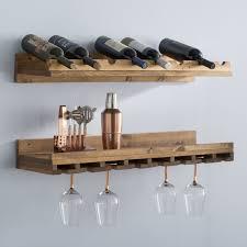 wall mounted wine rack. Berlyn Piece Bottle Wall Mounted Wine Rack Set In