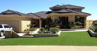 residential landscape artificial grass frontyard 8