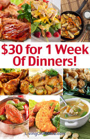 weekly meal plans on a budget cheap family dinner ideas 30 for 1 week of dinners living on a
