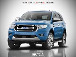 2018 ford grill. plain 2018 2018 ford endeavour 2018 everest rendered with ford grill