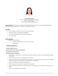 cover letter example resume samples of objective statements for resumes good professional profile copysample objective statements objective statement for resume examples