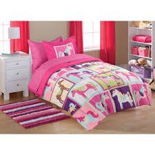 Mainstays Kids' Coordinated Bed in a Bag, Pink Horsey - Walmart.com &  Adamdwight.com