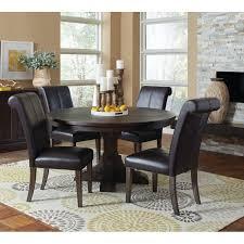 weber smokey black 5 piece round dining table set 107280 coaster