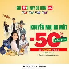 Gói 4 kênh K+ ra mắt trên ứng dụng truyền hình VTVcab ON   Tài chính - Kinh  doanh