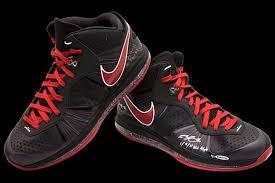 lebron 8 shoes. nike lebron 8 v1 amp v2 game wornsigned pes from upper deck lebron shoes l