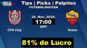 DecoTrader Pro - CFR Cluj Vs Roma - Liga Europa - Palpites | Tips | Picks  Futebol - Apostas e Trading Esportivo