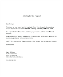 Catering Proposal Template Sample Quotation Letter For Services