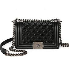 TOLOER Fashion Shoulder <b>Bag</b> Leather Crossbody Lattice ...