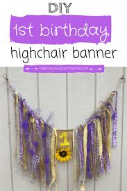 what you need to make this rustic burlap and fabric highchair banner