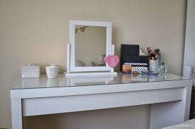 glass top makeup vanity with small square spinning furniture glass top makeup vanity with small square spinning mirror ikea